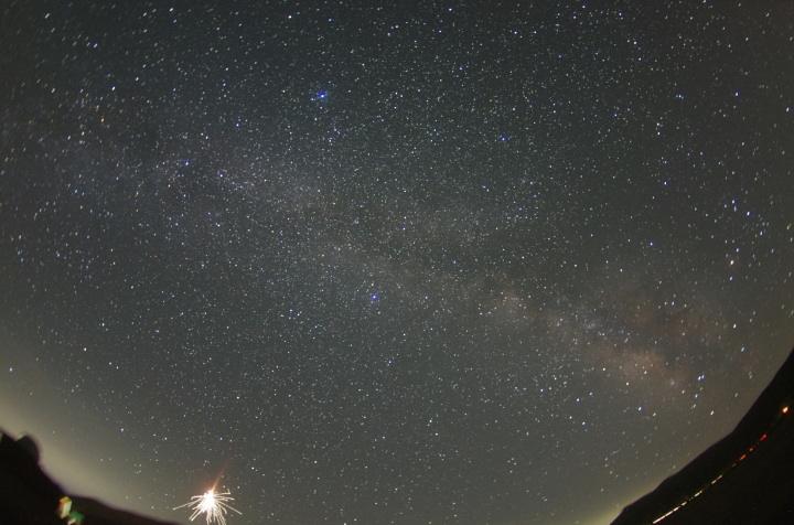 星と花火。