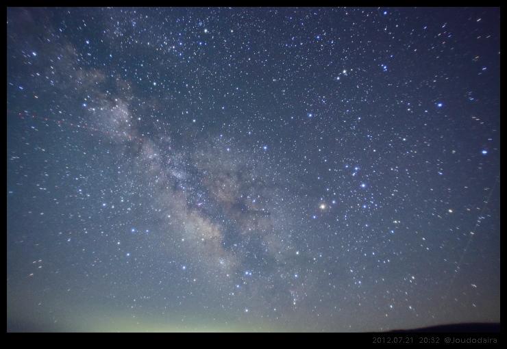 夏の夜の南空