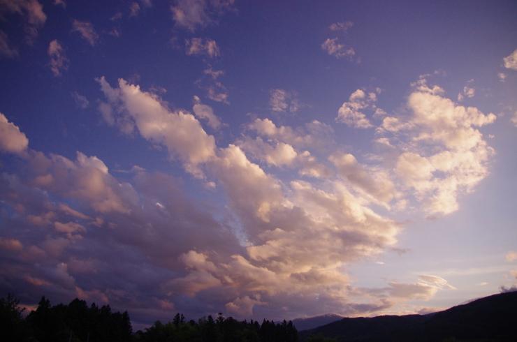 10月最初の夕空