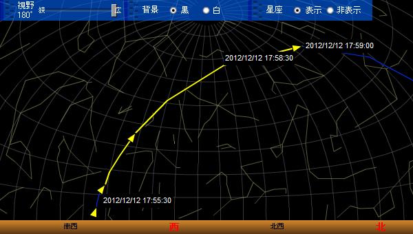 2012.12.12 ISSの軌跡予想