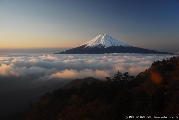 2013.01.09 三ツ峠から望む富士山