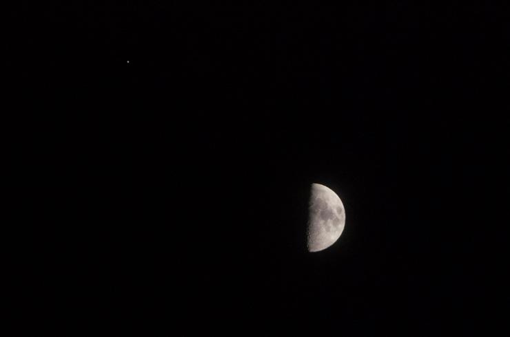 月と木星の接近