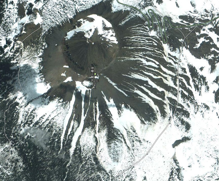 Mt.Azuma-kofuji from Google Earth