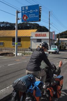 アジアを自転車で渡るフランス人