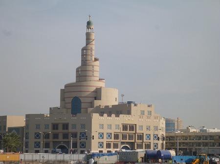 螺旋回廊のあるモスク。