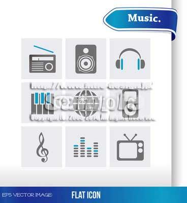 ロゴ アイコン音楽