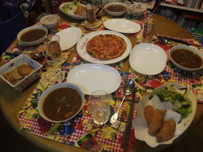 誕生日のテーブル