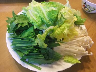鍋に入れる野菜