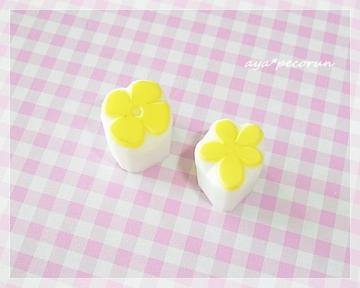 消しゴムはんこレッスン④ ミニベタ花×2