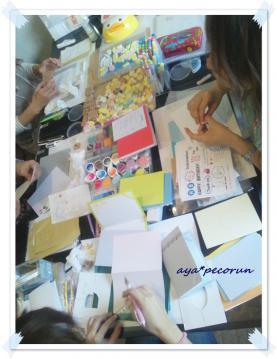 消しゴムはんこレッスン in SODA GUM 2012.10.18 ②