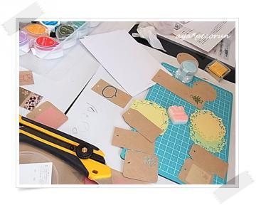 消しゴムはんこレッスン in SODA GUM 2012.10.27 AM 作品①