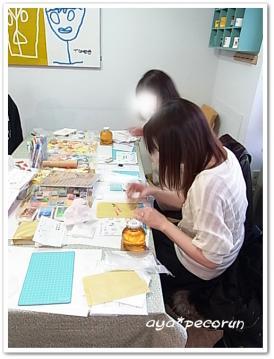 消しゴムはんこレッスン 2012.12.15 PM ①
