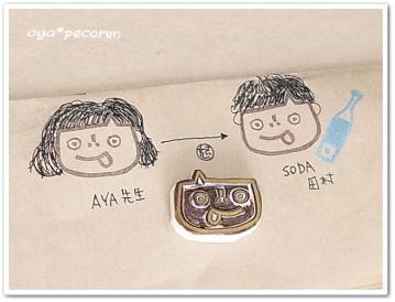 消しゴムはんこレッスン 2013.3.16 PM②