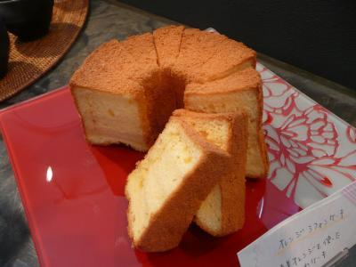 オレンジのシフォンケーキ