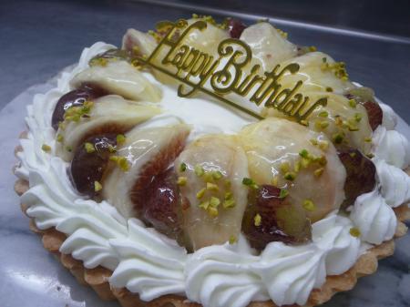いちじくのタルト バースデーケーキ