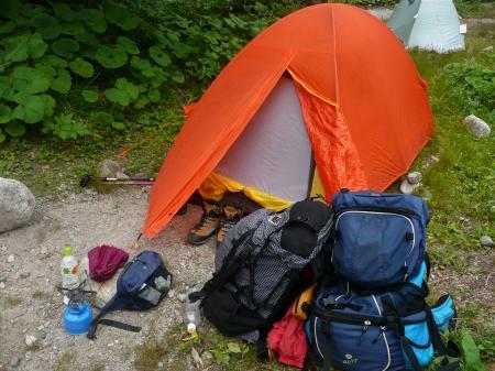 横尾キャンプ場②