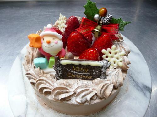 苺のクリスマスケーキ(生チョコクリーム)