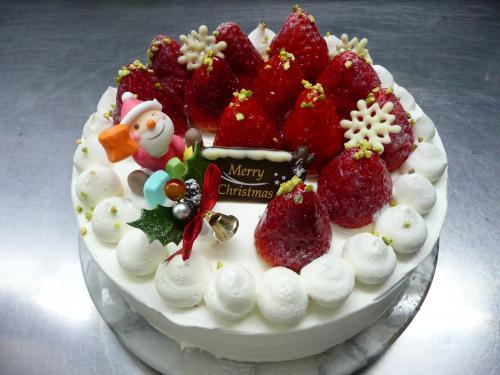 苺のクリスマスケーキ(生クリーム)