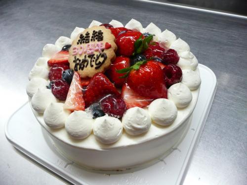 ベリーベリーなデコレーションケーキ③