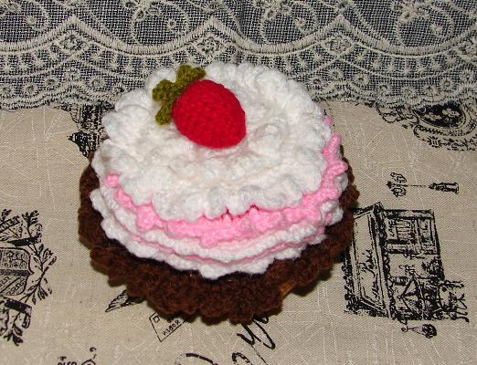 イチゴケーキのコースター3