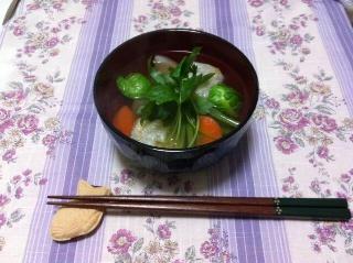 野菜たっぷりのお雑煮