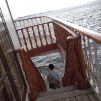 2ミシガン湖と船