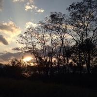 2琵琶湖ドライブ夕日