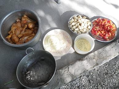 チキンカレー材料