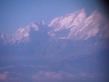 国内線から見えたヒマラヤ