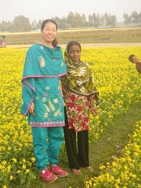 バングラ衣装で散歩