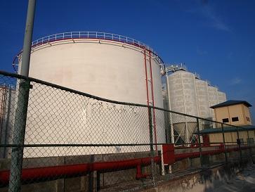 ガスの貯蔵タンク