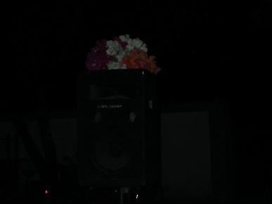 スピーカーにも花