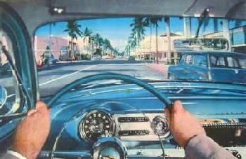 1950s vintage CHEVROLET interior color photo automobile Classic car