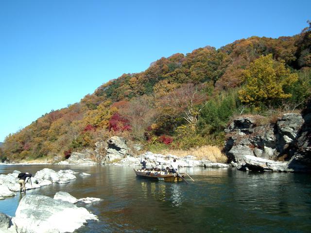 2014長瀞 渓谷の紅葉(2)