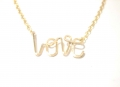 X-small LOVE pendant gold (2)