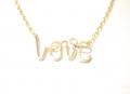 X-small LOVE pendant gold (2)