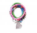 Z100 0 new multi heart bracelet set (2)