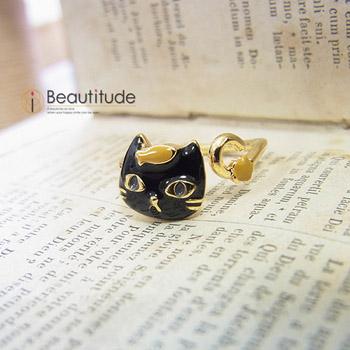 どや顔ネコとおさかなの指輪[黒猫ジジ]