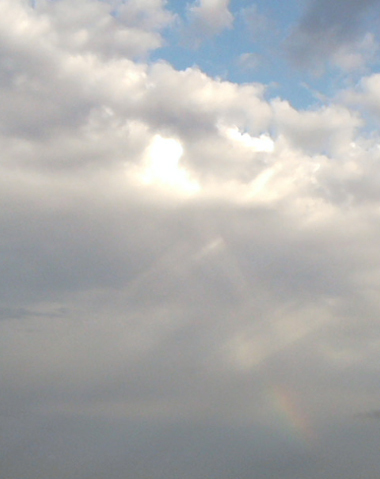 ハートの太陽と虹