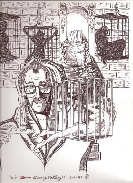 ローリングが刑務所内で描いた絵