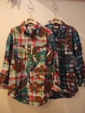 BIGフラワーマドラスL/Sシャツ