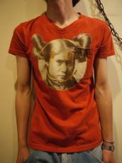 KAPITAL 天竺VネックTシャツ(NAVAJOスマイル)