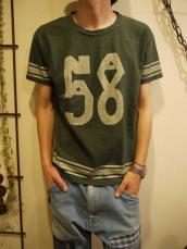 KAPITAL 天竺ナバホ ナンバーTシャツ(ヘムライン)