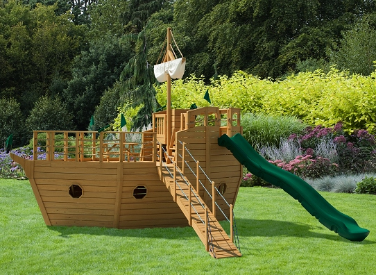 wooden boat playhouse plans
