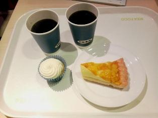 マンゴータルトとカップケーキ
