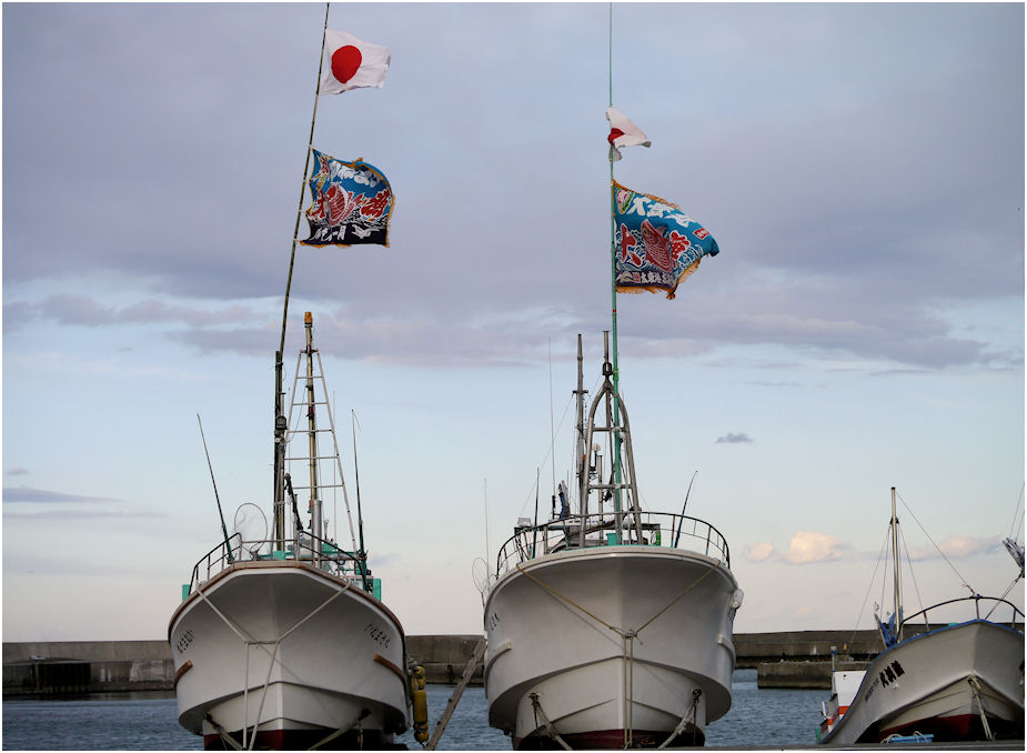 漁船の正月飾り2