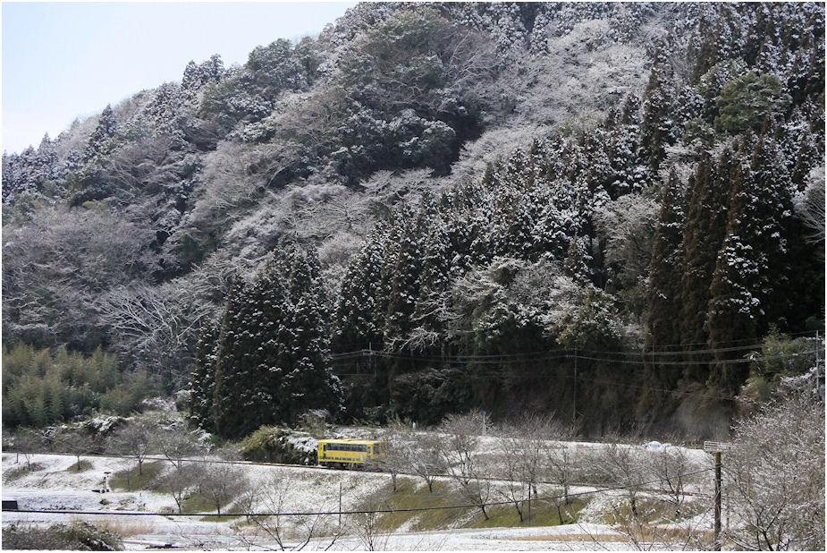 いすみ鉄道雪景色