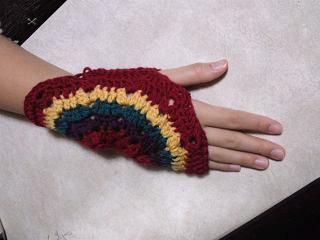 ビタミンカラーのモチーフ編み