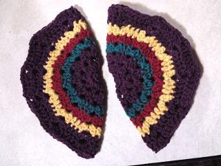 丸モチーフの手袋2