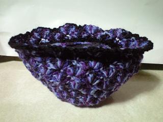 松編みポーチ2